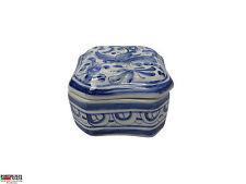 "Hand Painted Jewelery Box Louca de Coimbra  Made in Portugal #528 ""Tereza"""