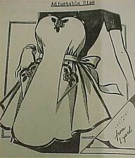 Vintage Bib Apron Full Size Pattern Mail Order Transfer Sexy Style 1940s Era