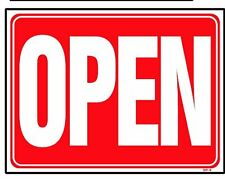 OPEN (Back side is CLOSED) 18x24 Heavy Duty Plastic Sign OP-3