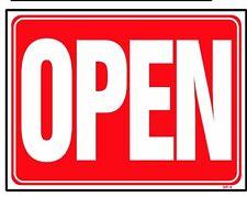 Open (Back side is Closed) 18x24 Heavy Duty Plastic Sign Op-3