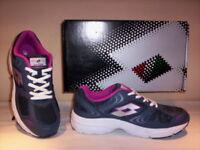 Lotto Antares III W scarpe ginnastica sneakers running corsa donna tela blu 38