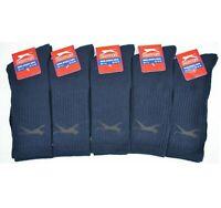 5 Pairs Slazenger Mens Sports Crew Work Socks Navy Blue Size UK 7 - 11 A123-61