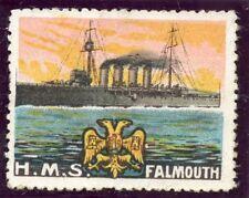WWWI ERINNOPHILIE TIMBRE  MILITAIRE / H.M.S. FALMOUTH / BATEAU DE GUERRE