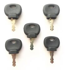 (5) Bomag Roller and Compaction Equipment Ignition Keys with Dust Skirt 14707