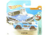 Hotwheels 68 Mustang Blue Tooned Short Card 1 64 Scale Sealed