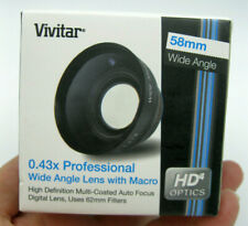 New In Box VIV-58W Vivitar 58mm 0.43X Professional Wide Angle Lens With Macro