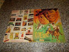 ALBUM IL LEGGENDARIO WEST ED.RELI 1968 + 203 FIGURINE SU 300 ORIGINALE MB/OTTIMO