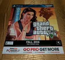 Large Grand Theft Auto 5 Girl Blowing Kiss Display Poster Some Damage Sold Cheap