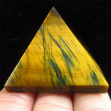 Pretty Natural Golden Tiger's eye Stone Crystal Quartz  Pyramid Point Heaing TH5