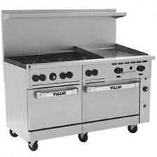 "Vulcan 60SS-6B24G 60"" Endurance Series Range w/ 6 Burners 2 Ovens 24"" Griddle"