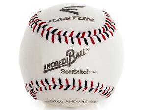 "Easton 9"" Training Soft Stitch Incrediball Baseball - White - New"