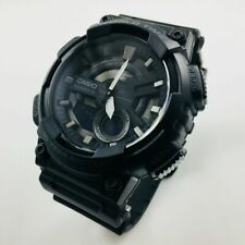 Men's Casio Analog And Digital Dial Black Resin Watch AEQ110W-1BV