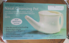 ANCIENT SECRETS  NASAL CLEANSING CERAMIC NETI POT NEW IMPROVED DESIGN NEW!