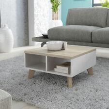 LARA Small Coffee Table Scandinavian Nordic Style / Living Room white/sonoma oak