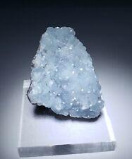 ***SUPERB-Sparkling Baby Blue Smithsonite crystals on matrix, mine Namibia***