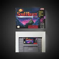 Soul Blazer USA NTSC Version With Retail Box RPG Game Battery Save SNES Freeship
