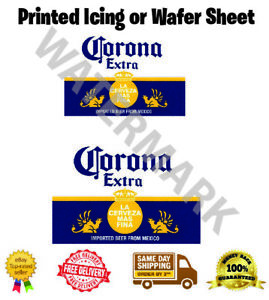 Corona Extra Label Edible Wafer Icing Cake Topper