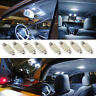 10PCS white 42mm 12V DC 16SMD Car LED Festoon Dome Interior Cargo Light Bulbs SR