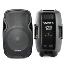 Pair Vonyx AP1500 Passive 15 Inch Foldback Lightweight Speakers 1600W UK Stock