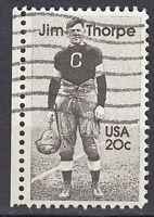 USA Briefmarke gestempelt 20c Jim Thorpe Baseball Sport Rand links / 1967