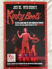Kinky Boots Promo Poster 11x17 Cast Musical Cyndi Lauper Sex is in the heel