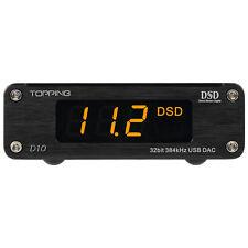 Topping D10 ES9018K2M PCM384 & DSD256 USB DAC XMOS XU208 OPA2134