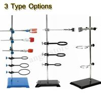 60cm Laboratory Stands Support Ring Lab Clamp Condenser Flask Beakers Clip Kit