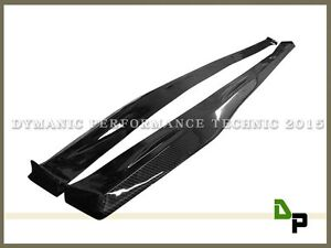 DP Type Carbon Side Skirt Lip For 14-18 Lexus IS250 IS300h IS350 w/ F-Sport