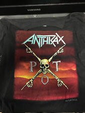 Vintage 1990 Anthrax Persistence of Time Tour Shirt Size Large