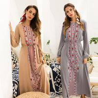 Hot! Ukraine Ethnic Women Dress Print Floral Women Beach Boho Hippie Sundress