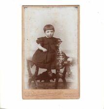CDV Foto Niedliches kleines Kind - Holzminden / Bad Driburg 1890er
