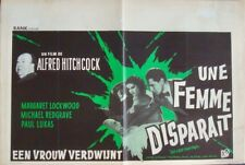 LADY VANISHES Belgian movie poster R1963 ALFRED HITCHCOCK RARE
