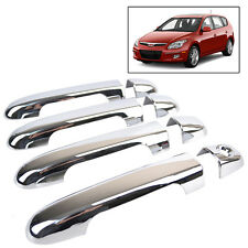 FOR 2007~2010 HYUNDAI ELANTRA 2011 i30 CW CHROME DOOR HANDLE COVER TRIM MOLDING