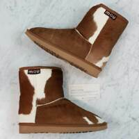 MOU  | Womens Fur ankle Boots / shoes NEW Rare [ Size EUR 39 / UK 6 ]