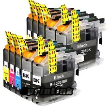 10pk Ink for LC203 Brother LC203xl mfc J480dw J460dw J485dw J680dw LC201