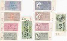 komplette Serie 1 bis 100 Kronen 1943 Konzentrationslager Theresienstadt