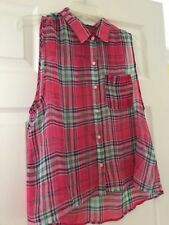 Abercrombie & Fitch Pink Plaid Blouse. Size M.