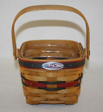 1998 LONGABERGER BEE BASKET, 25 TH ANNIVERSARY BASKET WITH PLASTIC LINER