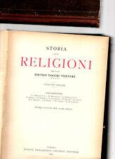 storia delle religioni - tacchi venturi - 2 volumi - ristampa seconda edizione