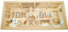 Large German NATURAL old wooden 3 - D picture Diorama - BAKERY SHOP - BAECKEREI
