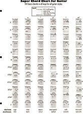 Super Chord Chart for Guitar - Guitar Fingering Chart Book - NEW 014032038