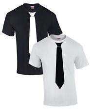 FUN T-SHIRT mit KRAWATTE Anzug Fliege SKA Smoking tie Tuxedo Kostüm für JGA