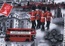 Fat Quarter London Bridge Incl Irish Guards Cotton Quilting Fabric 6598 11 UK