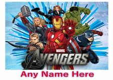 Personalised Kids Childrens A4 Placemat / Dinner Mat With Puzzles Avengers
