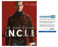 """Armie Hammer """"The Man from U.N.C.L.E."""" AUTOGRAPH Signed 'Illya' 8x10 Photo ACOA"""
