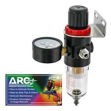 Airbrush Compressor AIR PRESSURE REGULATOR Gauge Water Trap Moisture Filter Hose