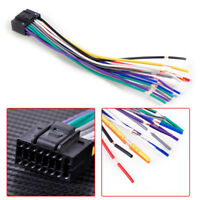 Car Radio Stereo Wire Harness Install Plug Cable 16 Pin Connector For Kenwood