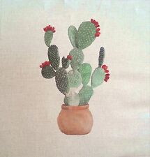 TEX EX ORIGINALE FLORA & FAUNA NOPAL cactus Cuscino Pannello Lino CACTUS