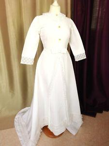 Robe de mariée vintage années'70 S Parfait état Taille FR34 US2 UK4 EUR32