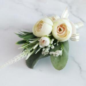 Artificial Flower Bud Boutonniere Wedding Party Groom /Best Man /Bride Maid